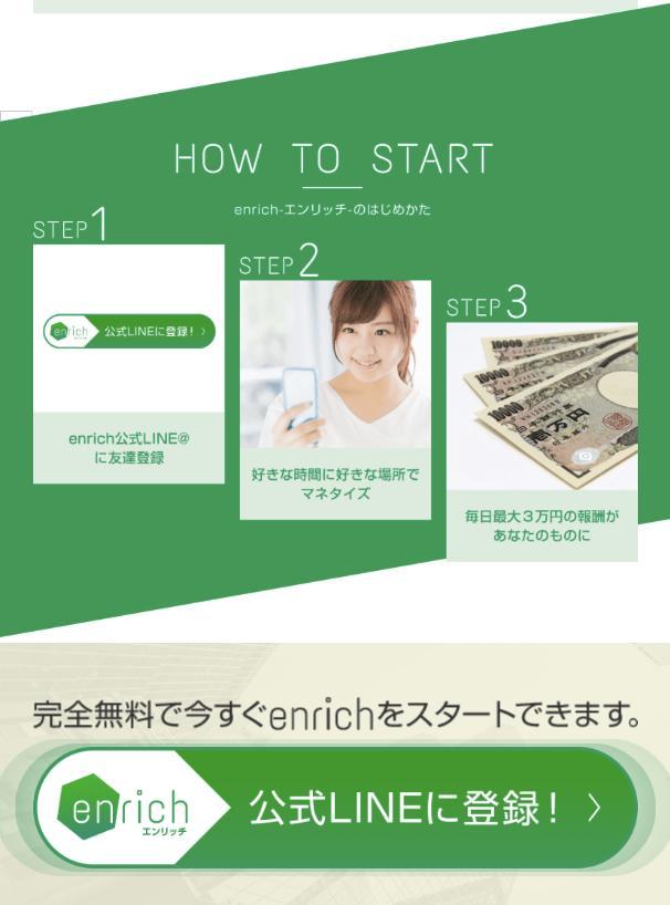 enrich(エンリッチ)とは?詐欺?毎日3万円も本当に稼げる?調べてみました2
